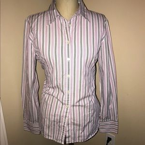 J. Crew Button Up Top-Women's Large